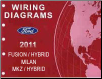 2011 Ford Fusion, Fusion Hybrid, Mercury Milan, Lincoln MKZ & MKZ Hybrid Factory Wiring Diagrams Manual (SKU: FCS2102811)