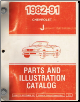 "1982 - 1991 Chevrolet ""J"" Parts and Illustration Catalog (SKU: FMChevALL)"