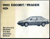 1992 Ford Escort  / Mercury Tracer Electrical and Vacuum Troubleshooting Manual (SKU: FPS1211792)