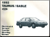 1992 Ford Taurus & Mercury Sable Electrical and Vacuum Troubleshooting Manual (SKU: FPS1212392)