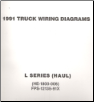 1991 Ford Medium/Heavy Truck L-Series Wiring Diagrams (Haul Configuration) (SKU: FPS1213591X)
