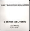 1992 Ford Medium/Heavy Truck L-Series Wiring Diagrams (Delivery Configuration) (SKU: FPS1213592Y)