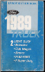 1989 Ford Light Duty Truck Specification Manual - Book 2 (SKU: FPS12137892)