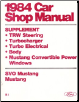 1984 Ford Car Factory Shop Manual Supplement (SKU: FPS36512684B1)