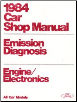 1984 Ford All Car Shop Manual - Emission Diagnosis (SKU: FPS36512684HC)