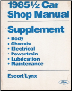 1985 1/2 Ford Escort & Mercury Lynx Factory Shop Manual Supplement (SKU: FPS3651268512CE)