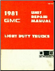 1981 GMC Light Duty Trucks Unit Repair Manual (SKU: X8145)