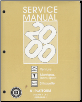 2000 Chevrolet Venture, Pontiac Montana, and Oldsmobile Silhouette Factory Service Manual - 2 Volume Set (SKU: GMP00U1-2)