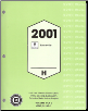 2001 Pontiac Bonneville Factory Service Manual - 2 Volume Set (SKU: GMP01HP)