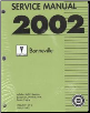 2002 Pontiac Bonneville Factory Service Manual - 2 Volume Set (SKU: GMP02HP)