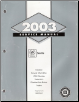 2003 Cadillac Seville Factory Service Manual - 2 Volume Set (SKU: GMP03K1-2)