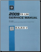 2009 Cadillac XLR, XLR-V Factory Service Repair Workshop Manual, 4 Vol. Set (SKU: GMP09XLR)