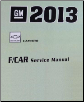 2013 Chevrolet Camaro Factory Service Repair Workshop Manual, 4 Vol. Set (SKU: GMP13F)
