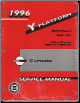 1996 Chevrolet Corvette Factory Service Manual: 2 Volume Set (SKU: GMP96Y)