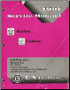 1997 Chevrolet Malibu Oldsmobile Cutlass, Cutlass Supreme Service Manual  - 2 Volume Set