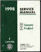 1998 Chevrolet Camaro & Pontiac Firebird  Factory Service Manual, 3 Volume Set