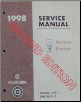 1998 Oldsmobile Aurora and Buick Riviera G-Platform Service Manual - 3 Volume Set (SKU: GMP98GF)
