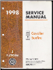 1998 Pontiac Sunfire and Chevrolet Cavalier Factory Service Manual - 3 Volume Set (SKU: GMP98J1-3)