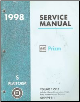 1998 Chevrolet / Geo Prizm (S Platform) Factory Service Manual  - 3 Volume Set
