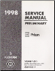 1998 Chevrolet / Geo Prizm Preliminary Factory Service Manual - 3 Volume Set (SKU: GMP98S1-3P)