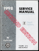 1998 Buick Regal, Century Service Manual - Vol. 1 & 3 of 3, 2nd Ed. (SKU: GMP98WB3F)