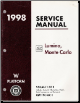 1998 Chevrolet Lumina / Monte Carlo Factory Service Manual - 3 Volume Set
