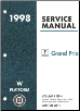 1998 Pontiac Grand Prix (W Platform) Service Manual - 4 Volume Set (SKU: GMP98WP1-2-3-4)