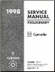 1998 Chevrolet Corvette Factory Service Manual Preliminary Edition - 3 Volume Set (SKU: GMP98Y1-2-3P)