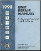 1998 All GM Passenger Cars and Light Duty Trucks Transmission, Transaxle and Transfer Case Unit Repair Manual, 2 Volume Set (SKU: GMPT98TURM1-2)