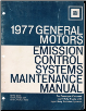 1977 General Motors Emission control System Maintenance Manual (SKU: GMSS771)