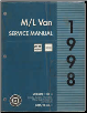 1998 Chevrolet/GMC M/L Vans: Astro & Safari Factory Service Manual   3 Volume Set (SKU: GMT98ML1-3)