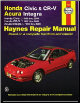 1996 - 2000 Honda Civic, 1997 - 2001 Honda CR-V, 1994 - 2000 Acura Integra Haynes Repair Manual (SKU: 1563925826)