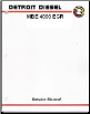 Detroit Diesel MBE 4000 EGR Series Diesel Engine Factory Workshop Manual (SKU: DDC-SVC-MAN-0023)