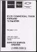 1999 - 2001 Chevrolet, GMC & Isuzu NPR, NPR HD, NQR Diesel Commercial Truck Forward Tiltmaster Chassis Service Manual - 2 Volume Set (SKU: NPD01WSMC01)
