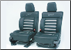 ROUSH 2004 - 2008 Ford F-150 Leather Seating, Black/Silver, SuperCab (SKU: R13030032)