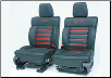 ROUSH 2004 - 2008 Ford F-150 Leather Seating, Black/Red, SuperCrew Cab (SKU: R13030035)