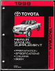 1998 Toyota Tacoma 4 Runner Factory Repair Manual Supplement (SKU: RM614U)