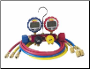 Robinair 4-Way Manifold with Digital Gauges & 60-inch Enviro-Guard Hoses w/ Quickseal Fittings (SKU: ROB43166)