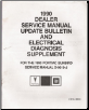 1990 Pontiac Sunbird Factory Service Manual Update & Electrical Diagnosis (SKU: S9010JSBES)