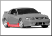 ROUSH 1999 - 2004 Ford Mustang Side Valance, Right Side, Unpainted (SKU: SM01-1300-AA)