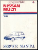 1987 Nissan Multi M10 Series Factory Service Manual (SKU: SM7E0M10C0)