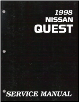 1998 Nissan Quest Factory Service Manual (SKU: SM8E0V40U0)