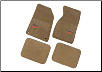 ROUSH 1994 - 2004 Ford Mustang Front Tan Floormats (SKU: SM94-5100-T)
