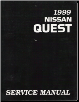 1999 Nissan Quest Factory Service Manual (SKU: SM9E0V41U0)