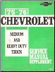 1975 - 1976 Chevrolet Medium and Heavy Duty Truck Service Manual Supplement (SKU: ST33175)