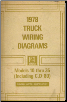 1978 GMC Models 10 thru 35 (Including C, D-80) - Wiring Diagrams (SKU: ST35278)