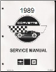 1989 Chevrolet Corvette Factory Service Manual- Reproduction (SKU: ST36489)