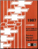 1987 Chevrolet Camaro Factory Electrical Diagnosis Service Manual Supplement (SKU: ST36887EDM)