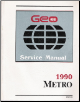 1990 Geo Metro Factory Service Manual (SKU: ST37090)