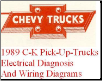 1989 Chevrolet GMC C/K Pick-Up Truck  - Electrical Diagnosis and Wiring Diagrams Manual (SKU: ST37589EDD)